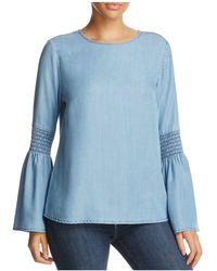 Beach Lunch Lounge - Bell-sleeve Chambray Top - Lyst