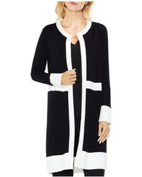 Vince Camuto - Colour Block Open Front Duster Cardigan - Lyst