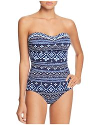 Tommy Bahama - Bandeau One Piece Swimsuit - Lyst
