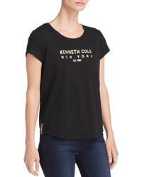 Kenneth Cole - Kam Logo Graphic Tee - Lyst