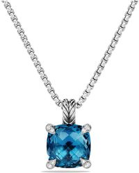 David Yurman | Châtelaine Pendant Necklace With Hampton Blue Topaz And Diamonds | Lyst