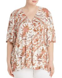 Lucky Brand - Printed Wrap Top - Lyst