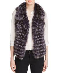 Maximilian - Thin Collar Fox Vest - Lyst
