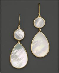 Ippolita | 18k Gold Polished Rock Candy 2 Drop Earrings In Mother-of-pearl | Lyst