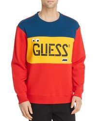 Guess - Colour - Block Logo Sweatshirt - Lyst
