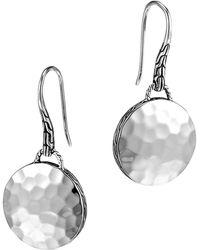 John Hardy - Palu Sterling Silver Round Drop Earrings - Lyst