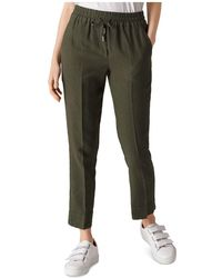 Whistles - Cropped Drawstring Trousers - Lyst