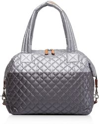 MZ Wallace - Quilted Tin/steel Metallic Large Sutton - Lyst