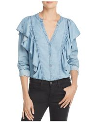 PAIGE - Chambray Farren Top - Lyst