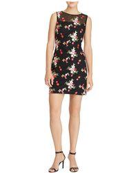 Ralph Lauren - Floral-embroidered Mesh Dress - Lyst