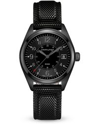 Hamilton - Khaki Field Quartz Full Black Watch - Lyst