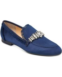 Ivanka Trump - Women's Weven Embellished Satin Loafers - Lyst