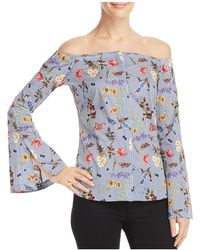 Bailey 44 - Horticulture Floral Striped Off-the-shoulder Top - Lyst
