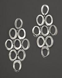 Ippolita - Sterling Silver Open Oval Cascade Earrings - Lyst