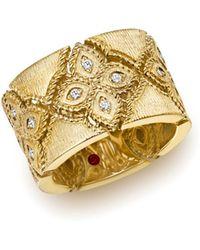 Roberto Coin - 18k Yellow Gold Venetian Princess Diamond Ring - Lyst