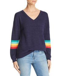 Honey Punch - Rainbow-sleeve Jumper - Lyst