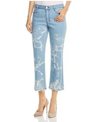 Donna Karan - New York Faded Cropped Flare Jeans In Retro Mid Rinse - Lyst