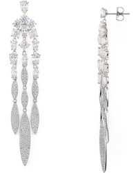 Nadri - Faceted Stone Chandelier Earrings - Lyst