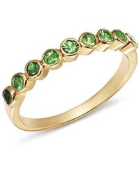 Shebee - 14k Yellow Gold Ombré Tsavorite Ring - Lyst