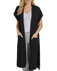 Lyssé - Fulton Drop-stitch Open-front Duster Cardigan - Lyst