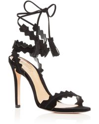 Schutz - Women's Lisana Suede Ankle Tie High Heel Sandals - Lyst