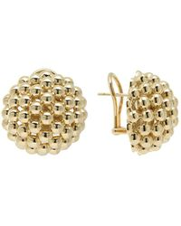 Lagos - 18k Gold Caviar Bold Button Stud Earrings - Lyst