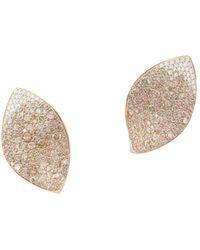 Pasquale Bruni - 18k Rose Gold Giardini Segreti Champagne Diamond & Diamond Floral Earrings - Lyst
