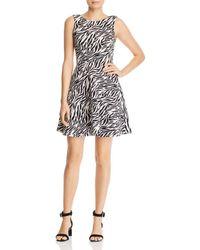 Aqua - Zebra Print Fit-and-flare Dress - Lyst