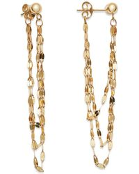 Moon & Meadow - Draped Triple Chain Drop Earrings In 14k Yellow Gold - Lyst
