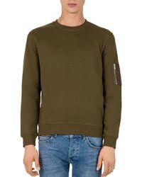 The Kooples - Zip Crewneck Sweatshirt - Lyst