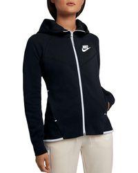 e330ef8ba9ef9 Lyst - Nike Tech Fleece Windrunner Hoody in Pink