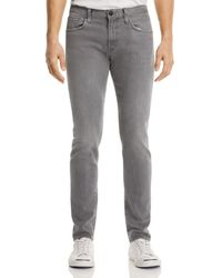 J Brand - Tyler Taper Athletic Fit Jeans In Grey Luna - Lyst