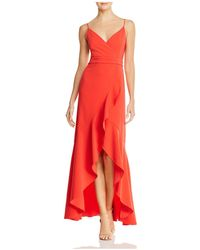 Laundry by Shelli Segal - Ruffled High/low Gown - Lyst