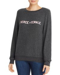 090a891afe6f7 Lyst - Wildfox Sweatshirt - Striped in Gray