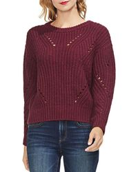 Vince Camuto - Pointelle-accented Jumper - Lyst