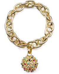 R.j. Graziano - Chain & Pavé Ball Stretch Bracelet - Lyst