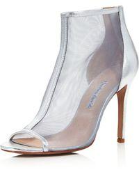 Charles David - Women's Court Mesh & Leather Open Toe High-heel Booties - Lyst