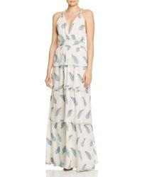 Ramy Brook Toleda Leaf - Print Maxi Dress