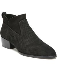 Via Spiga - Tricia Perforated Block Heel Booties - Lyst