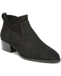 Via Spiga | Tricia Perforated Block Heel Booties | Lyst