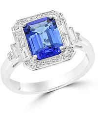 Bloomingdale's - Tanzanite And Diamond Statement Ring In 14k White Gold - Lyst