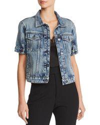 c8e712157668 Hudson Jeans - Ruby Short-sleeve Denim Jacket In Hideaway - Lyst
