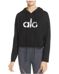Alo Yoga - Cropped Logo Hoodie - Lyst