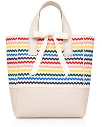 Loeffler Randall - Ribbon Saffiano Leather Tote - Lyst