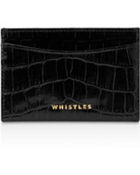 Whistles | Shiny Croc Card Holder | Lyst