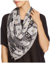 Aqua - Chevron Diamond Square Scarf - Lyst
