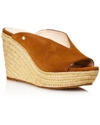 64b4b45b4ab9 Kate Spade Darie Wedge Sandal in Metallic - Lyst