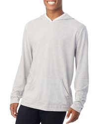 Alternative Apparel - Marathon Stripe-print Hooded Pullover - Lyst