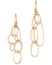 Pomellato - 18k Rose Gold Asymmetrical Chain Link Drop Earrings - Lyst