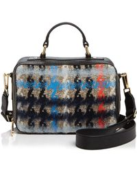 MILLY - Small Pied Poule Tweed Satchel - Lyst
